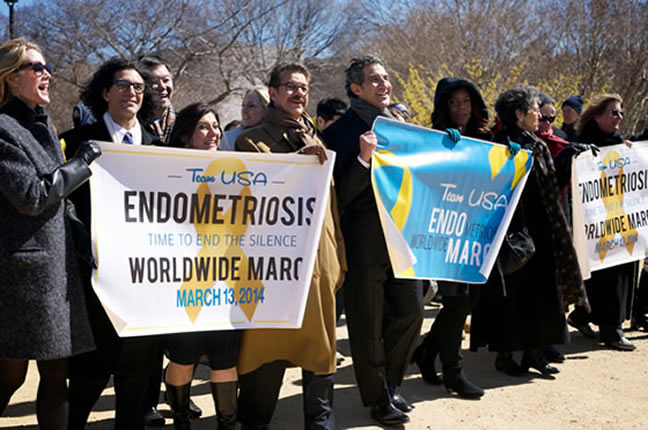 Endomarch for endometriosis
